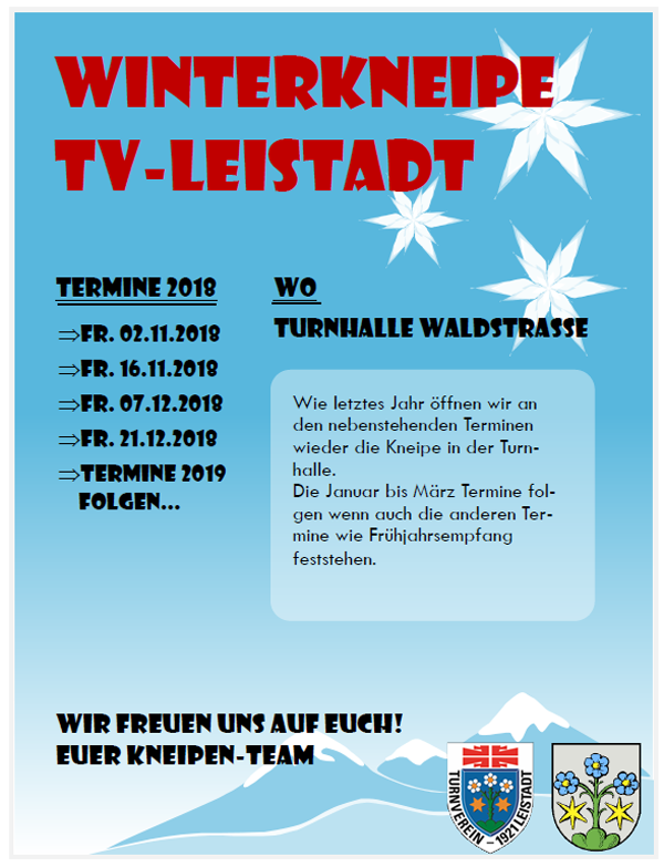 TV-Leistadts Winterkneipe 2018/2019