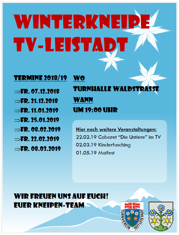 TV-Leistadts Winterkneipe 2019